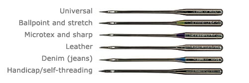 Types of sewing needles
